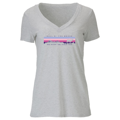 Heather White Horizon V-Neck